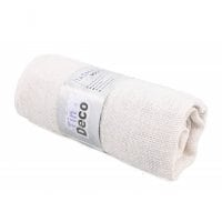 Ткань из мешковины белая 90 см. х 3 м . 5056