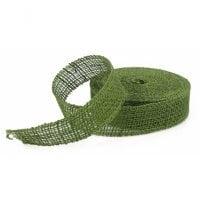 Лента из мешковины зеленая 3.5 см. х 20 м . 5062