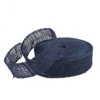 Лента из мешковины синяя 3.5 см. х 20 м . 5067