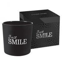 Свеча ароматическая с двумя фитилями Bispol Just Smile 27400