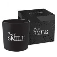 Свічка ароматична з двома гнотами Bispol Just Smile 27400