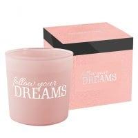 Свеча ароматическая с двумя фитилями Bispol Follow your dreams 27401