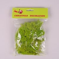 Мох декоративный зеленый 50 гр. 25319