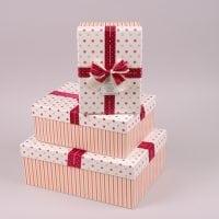 Комплект коробок для подарунків 3 шт. 41224