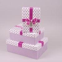Комплект коробок для подарунків 3 шт. 41225