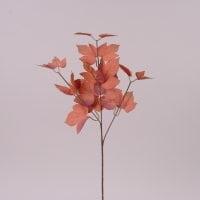 Ветка декоративная с терракотовыми листьями 72001