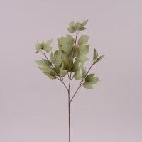 Ветка декоративная с зелеными листьями 72003
