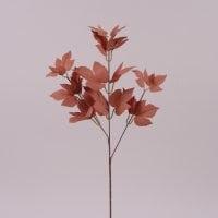 Ветка декоративная с коричневыми листьями 72004