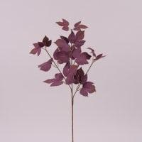 Ветка декоративная с бордовыми листьями 72005