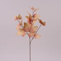Ветка декоративная с бежевыми листьями 72006