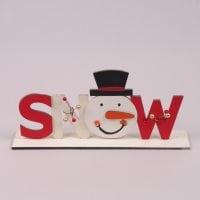 Надпись деревянная SNOW 29610