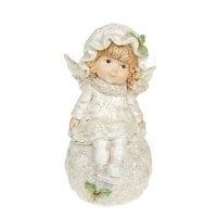 Фигурка новогодняя Ангелочек на снежке 18 см. 11730