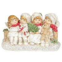 Фигурка новогодняя Ангелочки на скамейке 11 см. 11731