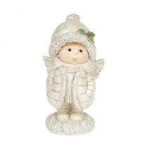 Фигурка новогодняя Ангелочек в куртке 15 см. 11733