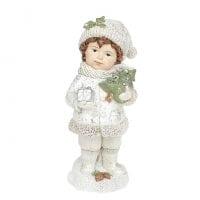 Фігурка новорічна Хлопчик з ялинкою 20 см. 11737