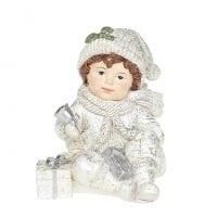 Фігурка новорічна Хлопчик з подарунками 13 см. 11738