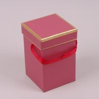 Коробка для квітів червона 41296
