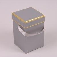 Коробка для квітів сіра 41298