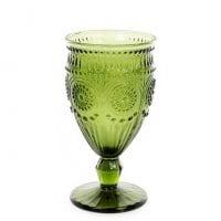 Бокал стеклянный для вина зеленый 360 мл. 31714