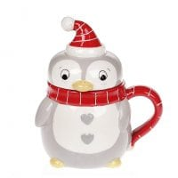 Чашка керамическая с крышкой Пингвин 0,37 л. 31776