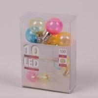 Гирлянда LED Разноцветные лампочки теплый свет 10 светодиодов 1 м. 40851