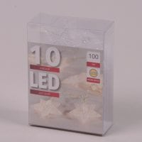 Гирлянда LED Звездочки теплый свет 10 светодиодов 1 м. 45019