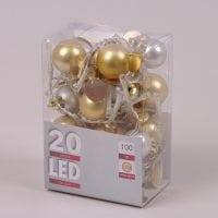 Гірлянда LED Кульки тепле світло 20 світлодіодів 1 м. 45020