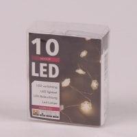 Гирлянда LED Снежинки теплый свет 10 светодиодов 1 м. 45021