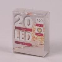 Підсвітка LED тепле світло 20 світлодіодів 1 м. 45032