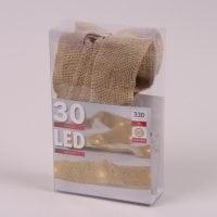 Підсвітка LED Мішковина тепле світло 30 світлодіодів 3 м. 45039