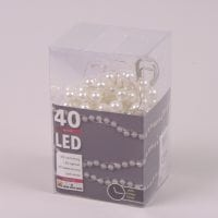 Гірлянда LED Перлини тепле світло 40 світлодіодів 1,8 м. 45011
