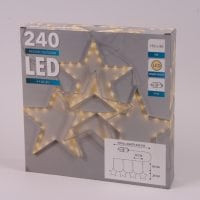 Гирлянда-занавес LED Звезды теплый свет 240 светодиодов 150 х 80 см. 45061