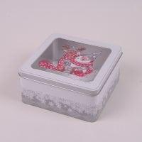 Коробка металева новорічна Санта 45050