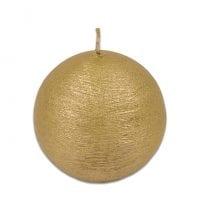 Свеча Шар Велюр 8 см. золотая 27637