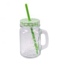 Чашка-банка с трубкой 0,45 л. 45070