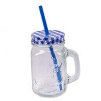 Чашка-банка с трубкой 0,45 л. 45071