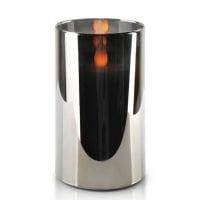 Свеча LED в стекле SALMA METALLIC D-7,5 см. H-12,5 см. 30782