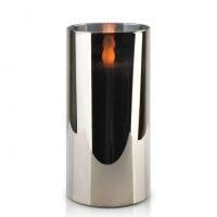Свеча LED в стекле SALMA METALLIC D-7,5 см. H-15 см. 30783
