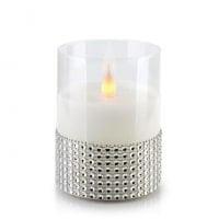 Свічка LED в склі SALMA D-7,5 см. H-10 см. 30784