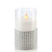 Свеча LED в стекле SALMA D-7,5 см. H-12,5 см. 30785