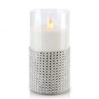Свічка LED в склі SALMA D-7,5 см. H-15 см. 30786