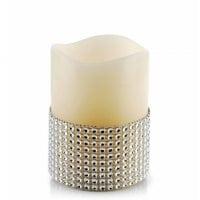 Свічка LED воскова IDALIA D-7,5 см. H-10 см. 30787