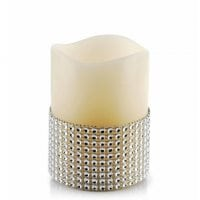 Свеча LED восковая IDALIA D-7,5 см. H-10 см. 30787