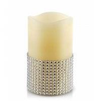 Свеча LED восковая IDALIA D-7,5 см. H-12,5 см. 30788