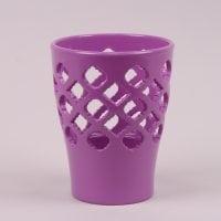 Горшок керамический Орхидейница Ажур фиолетовый 1.5л