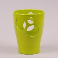 Горшок керамический Орхидейница с отверстиями глазурь лайм 2.7л