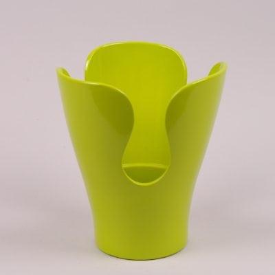 Фото Горшок керамический Орхидейница лепестковая лайм 2.7л