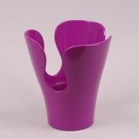 Горшок керамический Орхидейница лепестковая фиолетовый  2.7л