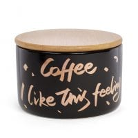 Банка фарфоровая Coffee с бамбуковой крышкой 0,7 л. 31877
