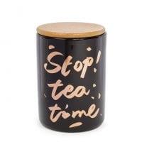 Банка фарфоровая Tea Time с бамбуковой крышкой 0,725 л. 31881